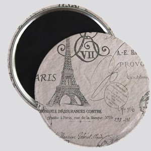 vintage paris eiffel tower scripts Magnet