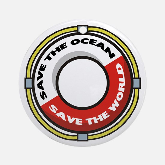 Save The Ocean Ornament (Round)
