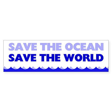 Save The Ocean Sticker (Bumper)
