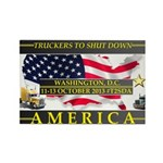 Truckers To Shutdown America Large Magnets