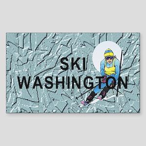 Ski Washington Sticker (Rectangle)