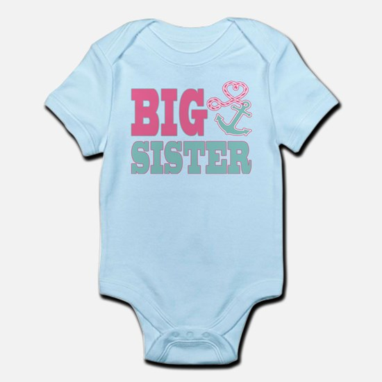 Big Sister Cute Nautical Anchor and Heart Body Sui
