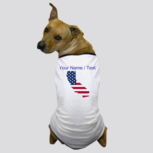 Custom California American Flag Dog T-Shirt