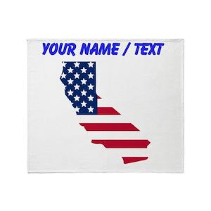 Black And White American Flag Blankets - CafePress e88cc50fc