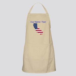 Custom California American Flag Apron