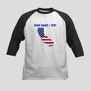 Custom California American Flag Baseball Jersey
