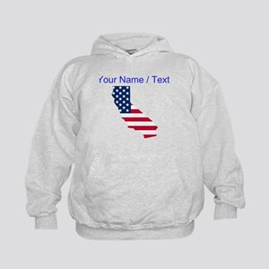 Custom California American Flag Hoodie