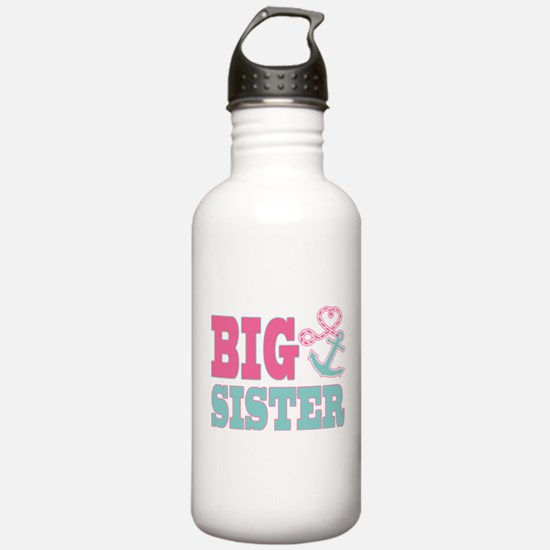 Big Sister Cute Nautical Anchor and Heart Water Bo