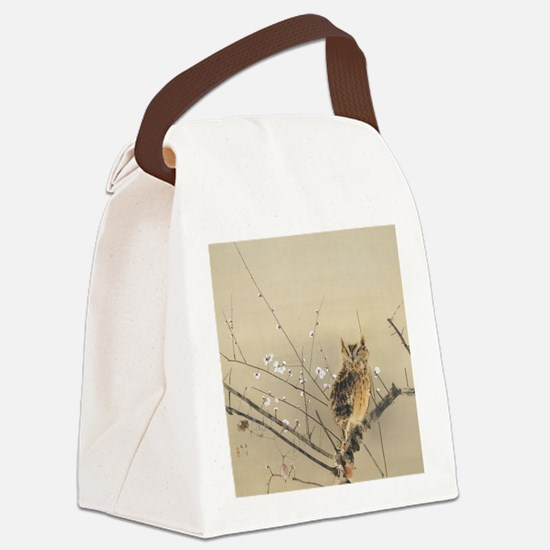 Early Plum Blossoms by Nishimura  Canvas Lunch Bag