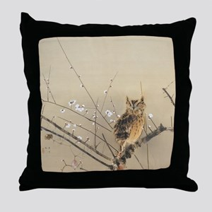 Early Plum Blossoms by Nishimura Goun Throw Pillow