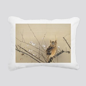 Early Plum Blossoms by N Rectangular Canvas Pillow