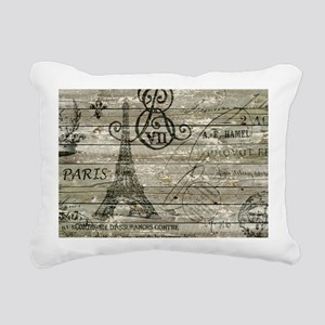 vintage paris eiffel tow Rectangular Canvas Pillow