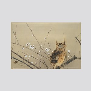 Early Plum Blossoms by Nishimura  Rectangle Magnet