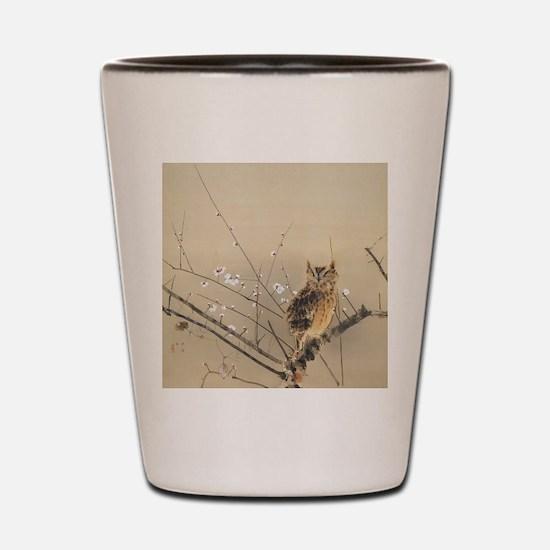 Early Plum Blossoms by Nishimura Goun Shot Glass