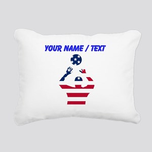 American Flag Volleyball Set Rectangular Canvas Pi