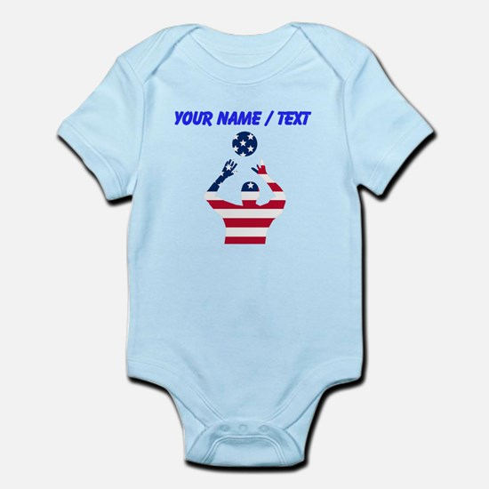 American Flag Volleyball Set Body Suit