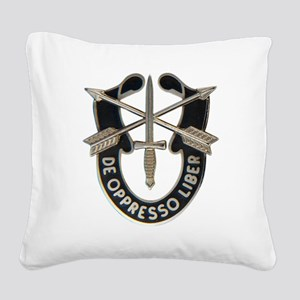Special Forces Square Canvas Pillow