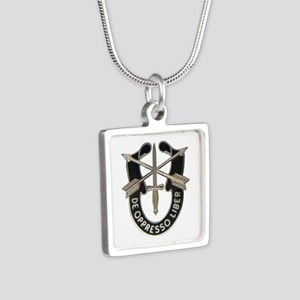 Special Forces Silver Square Necklace