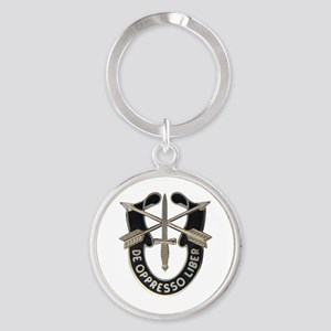 Special Forces Round Keychain