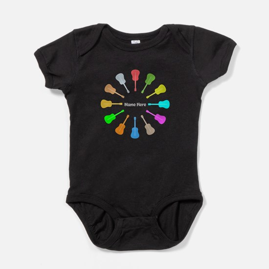 Guitars Personalized Baby Bodysuit