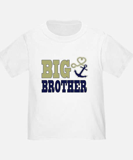 Big Brother Cute Nautical Anchor and Heart T-Shirt