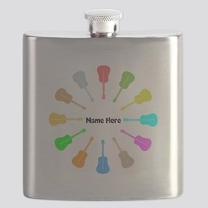 Guitars Personalized Flask