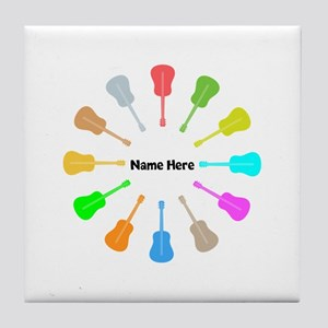 Guitars Personalized Tile Coaster