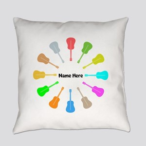 Guitars Personalized Everyday Pillow