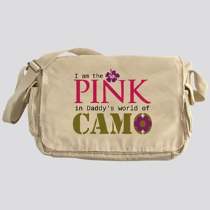 Pink In Daddys Camo World! Messenger Bag