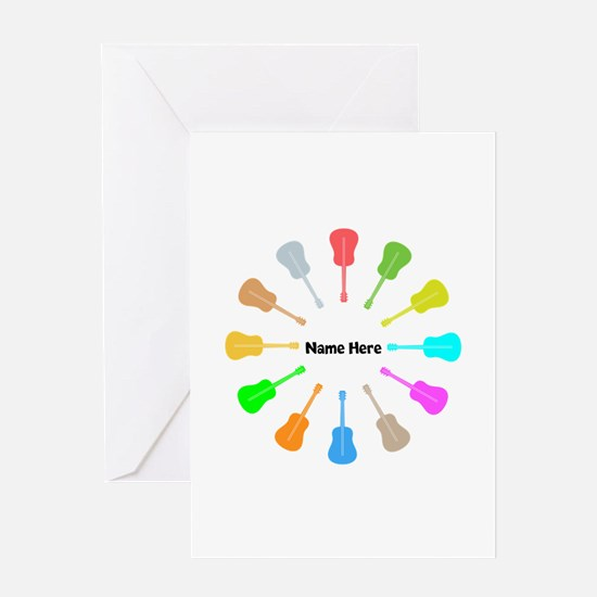 Guitars Personalized Greeting Card
