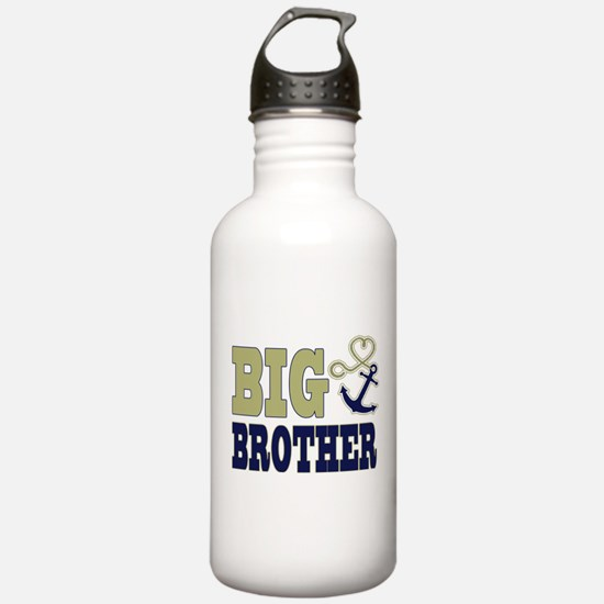 Big Brother Cute Nautical Anchor and Heart Water B