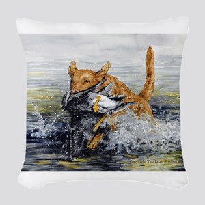 chesapeake Bay Retriever Woven Throw Pillow
