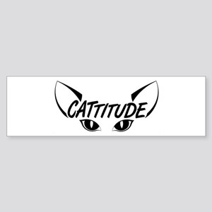 Cattitude Sticker (Bumper)