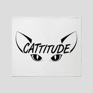 Cattitude Throw Blanket