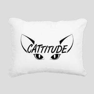 Cattitude Rectangular Canvas Pillow