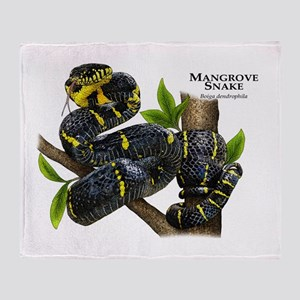 Mangrove Snake Throw Blanket