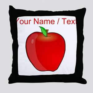 Custom Apple Throw Pillow