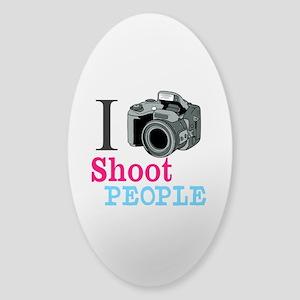I Shoot People Sticker (Oval)