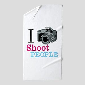 I Shoot People Beach Towel