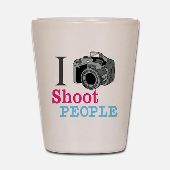 I Shoot People Shot Glass
