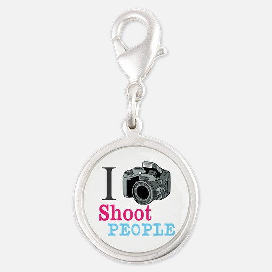 I Shoot People Silver Round Charm