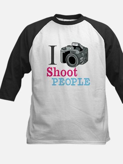 I Shoot People Kids Baseball Jersey