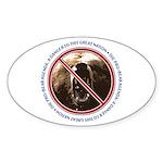 Pro-Bear Danger Oval Sticker