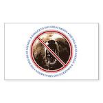 Pro-Bear Danger Rectangle Sticker