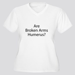 Are Broken Arms H Women's Plus Size V-Neck T-Shirt