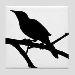 Mockingbird Silhouette Tile Coaster