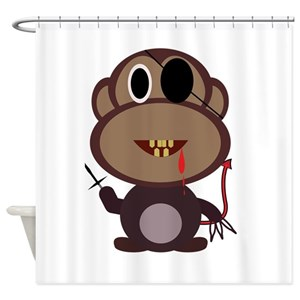 Monkey Pirate Shower Curtains