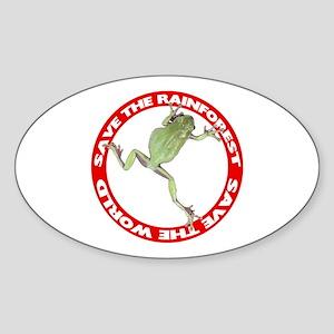 Save The Rainforest Oval Sticker