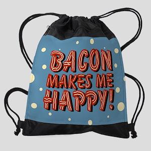 bacon-makes-me-happy_b Drawstring Bag