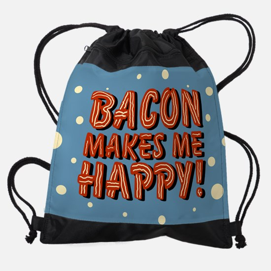 bacon-makes-me-happy_b.png Drawstring Bag